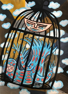"""""""The caged bird sings /with a fearful trill/of things unknown/ but longed for still/ and his tune is heard/ on the distant hill /for the caged bird /sings of freedom."""" --Maya Angelou"""