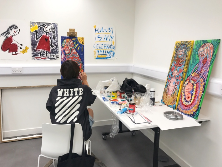 First paintings in London, July 2018