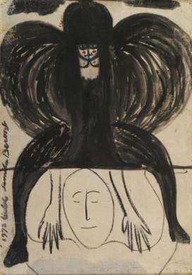 SELF-PORTRAIT Oil on hardboard 100 x 70 cm, 1972