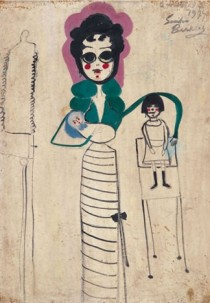 MOM AND I Oil on Masonite 100 cm x 70 cm, 1974