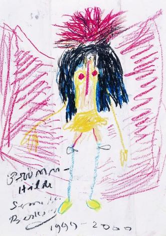 BRÜNNHILDE Crayon on paper 29.5 x 21 cm, 1999