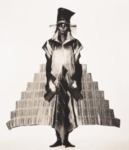 'issey miyake staircase dress_ (1994) by irving penn