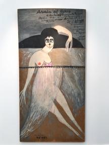 Ariadne Auf Naxos, 1987 Oil on masonite 96 1/10 × 48 in; 244 × 122 cm