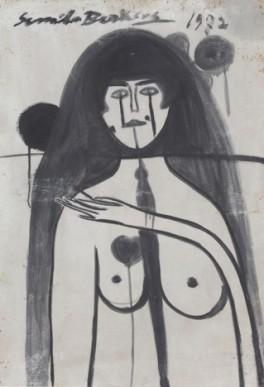 SORROW (SELF-PORTRAIT) Oil on hardboard 99 x 69 cm, 1972