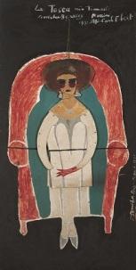 LA TOSCA PERFORMANCE Oil on hardboard 250 x 124 cm, 1975