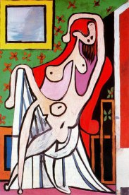 Large nude in red armchair 1929