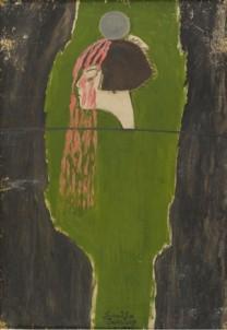 SELF-PORTRAIT Oil on hardboard 100 x 70 cm, 1970