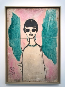 (Angel with Green Wings) Zeliha Berksoy, 1991 Oil on masonite 39 × 27 1/5 in; 99 × 69 cm