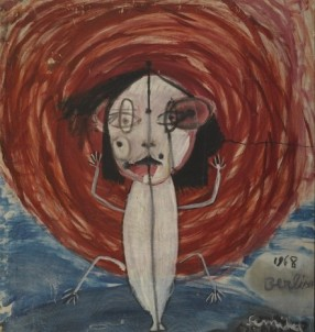 CLIMBER (SELF-PORTRAIT) Oil on canvas 100 x 70 cm, 1968
